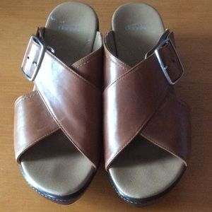 Brown Dansko Platform Sandals